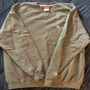 Champion heather grey crew neck sweatshirt XL